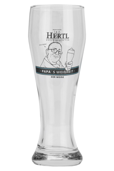 Papa's whiteness wheat beer glass - product image